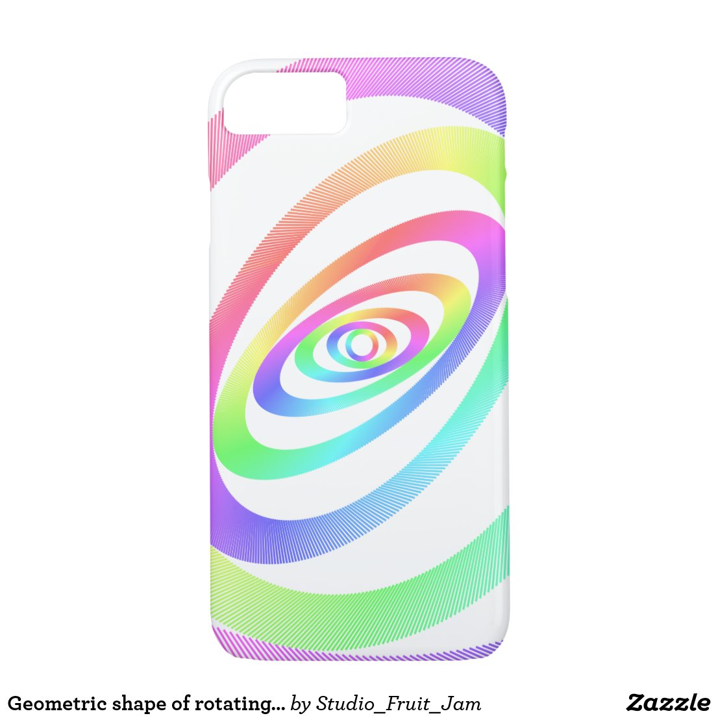 Geometric shape of rotating ring. iPhone 8/7 case