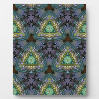 Geometric Shaped Kaleidoscope Pattern Plaque