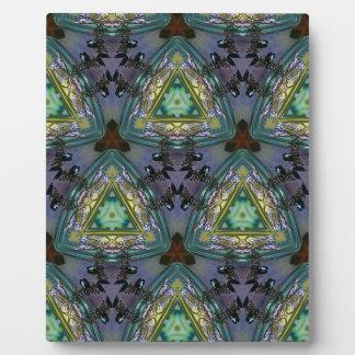 Geometric Shaped Kaleidoscope Pattern Plaque