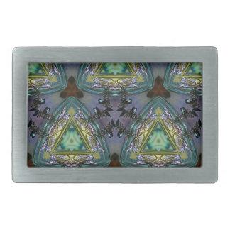 Geometric Shaped Kaleidoscope Pattern Rectangular Belt Buckle