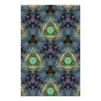 Geometric Shaped Kaleidoscope Pattern Stationery