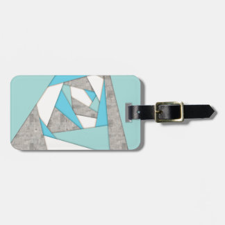 Geometric Shapes Abstract Luggage Tag