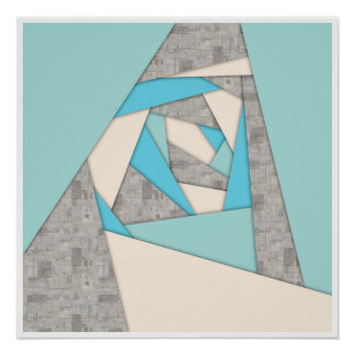 Geometric Shapes Abstract Poster