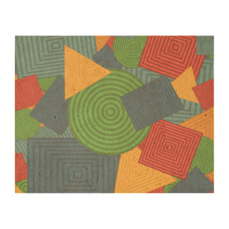Geometric Shapes Collage (Bright Colors - Light) Cork Paper