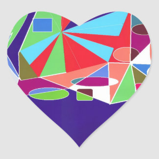 Geometric Shapes Heart Stickers