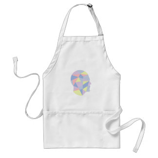 Geometric Shapes Inside Human Head Abstract Design Adult Apron