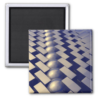 Geometric Shapes of Gold 2 Inch Square Magnet