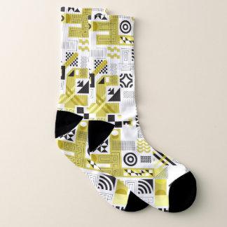 Geometric Shapes Seamless pattern Socks