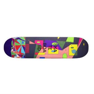 Geometric Shapes Skate Board