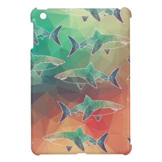 Geometric Sharks iPad Mini Covers