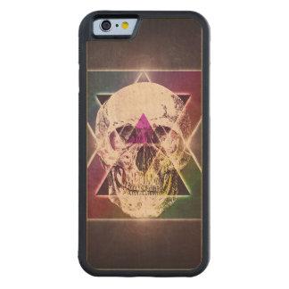 Geometric skull carved® maple iPhone 6 bumper case