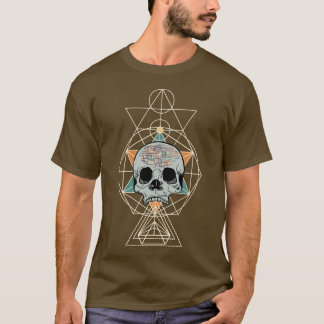 Geometric Skull Free Will Song Graphic Art Shirt