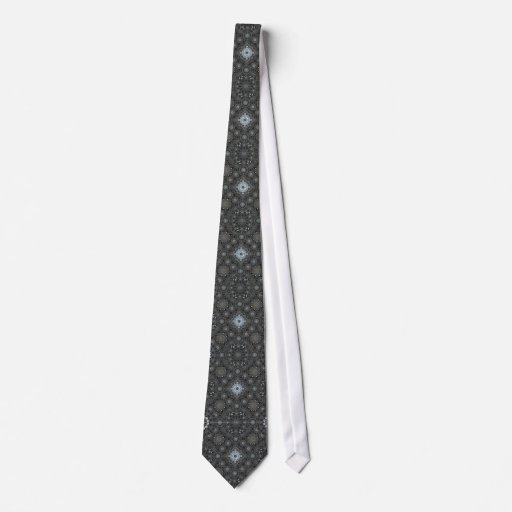 Geometric Smoke Neck Tie