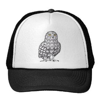 Geometric Snowy Owl Trucker Hat