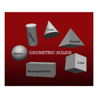 Geometric Solids  *UPDATED* Poster