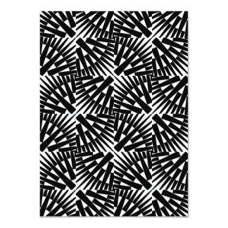 Geometric Spike Pattern Card