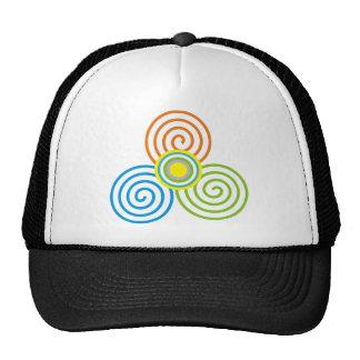 Geometric spiral trucker hat
