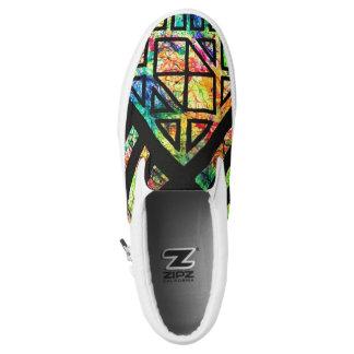 Geometric Splatter Slip On Shoes