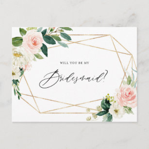 Template Bridesmaid Will You Be My Bridesmaid Cards Zazzle