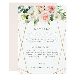 Geometric Spring Romance Details Card