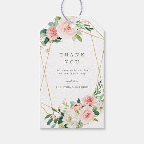 Geometric Spring Romance Gift Tags