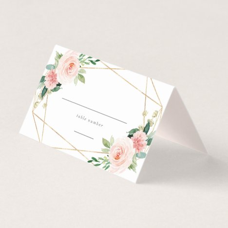 Geometric Spring Romance Place Card