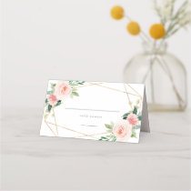 Geometric Spring Romance Place Card