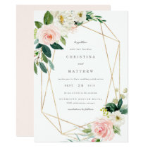 Geometric Spring Romance Wedding Invitation