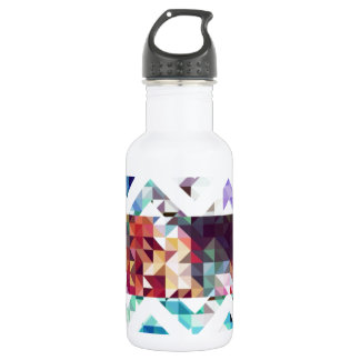 Geometric. Squares and Triangles. Stainless Steel Water Bottle