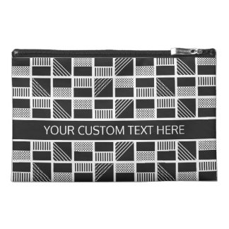 Geometric Squares custom text accessory bags
