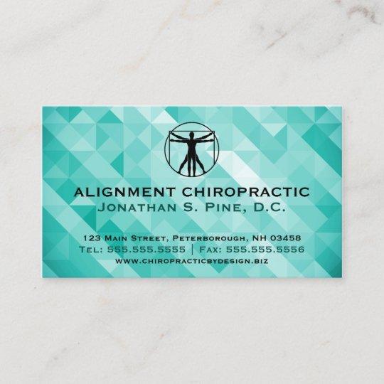 Geometric Standard Chiropractic Business Cards Zazzle