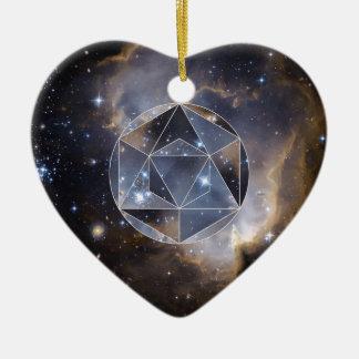 Geometric star cluster ceramic ornament