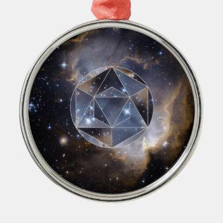 Geometric star cluster metal ornament