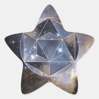 Geometric star cluster star sticker