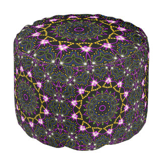 Geometric Star Night Princess Pouf