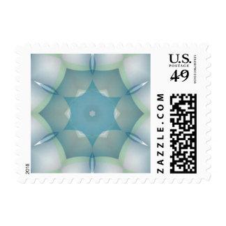 Geometric Star of David Fractal Postage