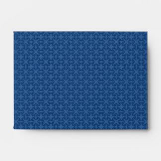 Geometric starry night pattern design envelopes