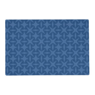 Geometric starry night pattern design placemat