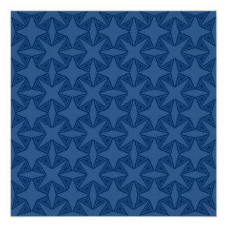 Geometric starry night pattern design poster
