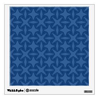 Geometric starry night pattern design wall decal