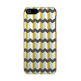 Geometric Stripes Chevron Mint And Yellow Pattern Incipio Feather® Shine iPhone 5 Case