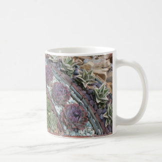 Geometric succulent garden coffee mug