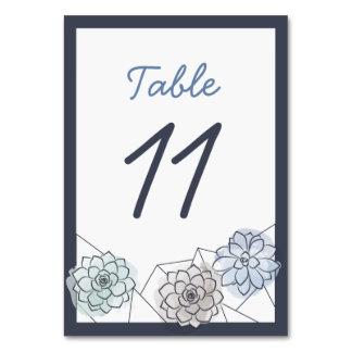 Geometric Succulent Wedding Table Card - 11