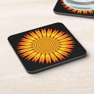 Geometric Sunflower Drink Coaster