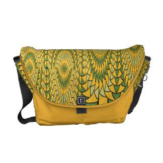 Geometric sunflowers messenger bag