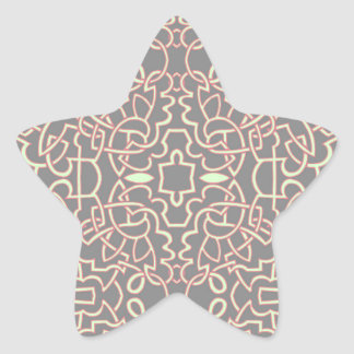 Geometric Tangle Celtic Pattern Star Sticker