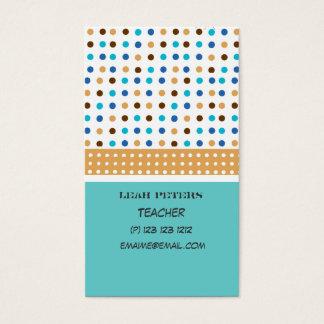 Geometric Teacher Counselor Cute and Friendly Business Card