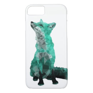 Geometric Teal Fox Phone Case