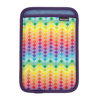 Geometric Techno Rainbow Chevron Sleeve For iPad Mini
