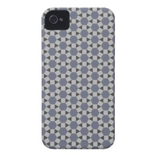 Geometric Tessellation Pattern in Grey and Blue Case-Mate iPhone 4 Cases